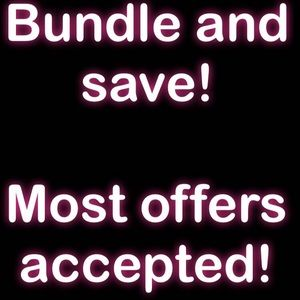 Anything in my closet you can bundle and save